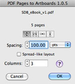 PDF Pages to Artboards