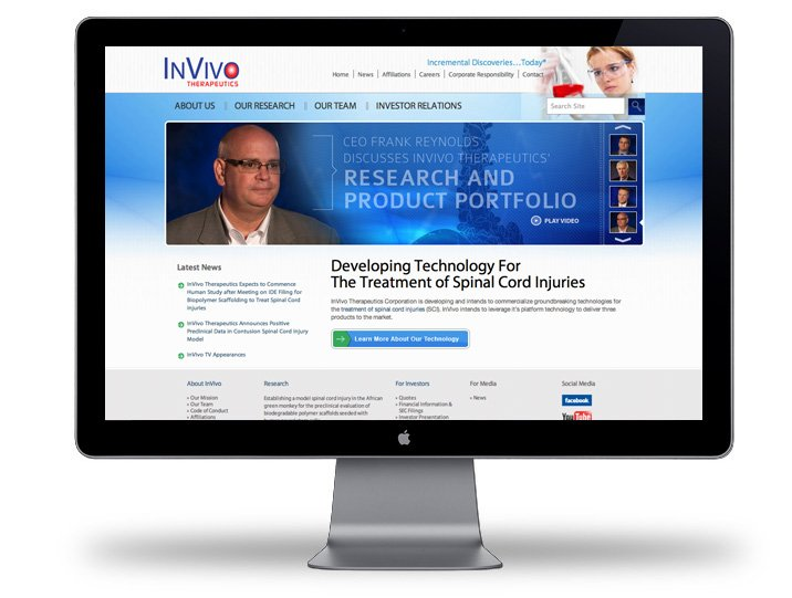 InVivo Therapeutics WebSite