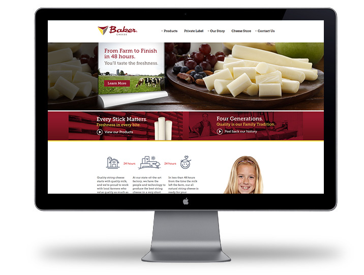 Baker Cheese website