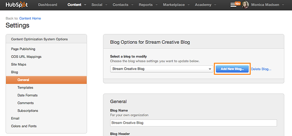 How to create a blog post in HubSpot's COS