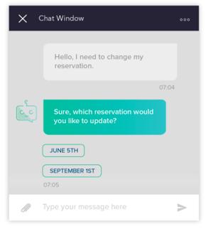 Hospitality -chatbot-example