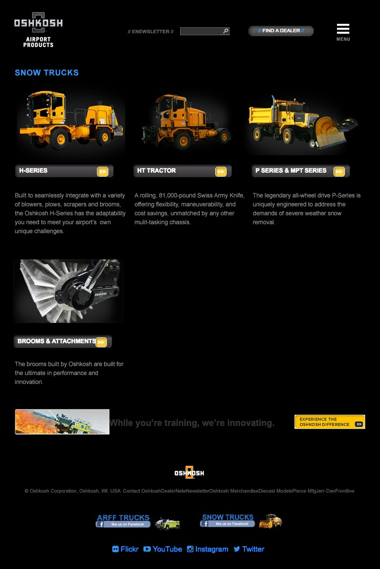 Oshkosh Airport Products Old Website