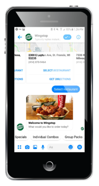 wingstop chatbot example