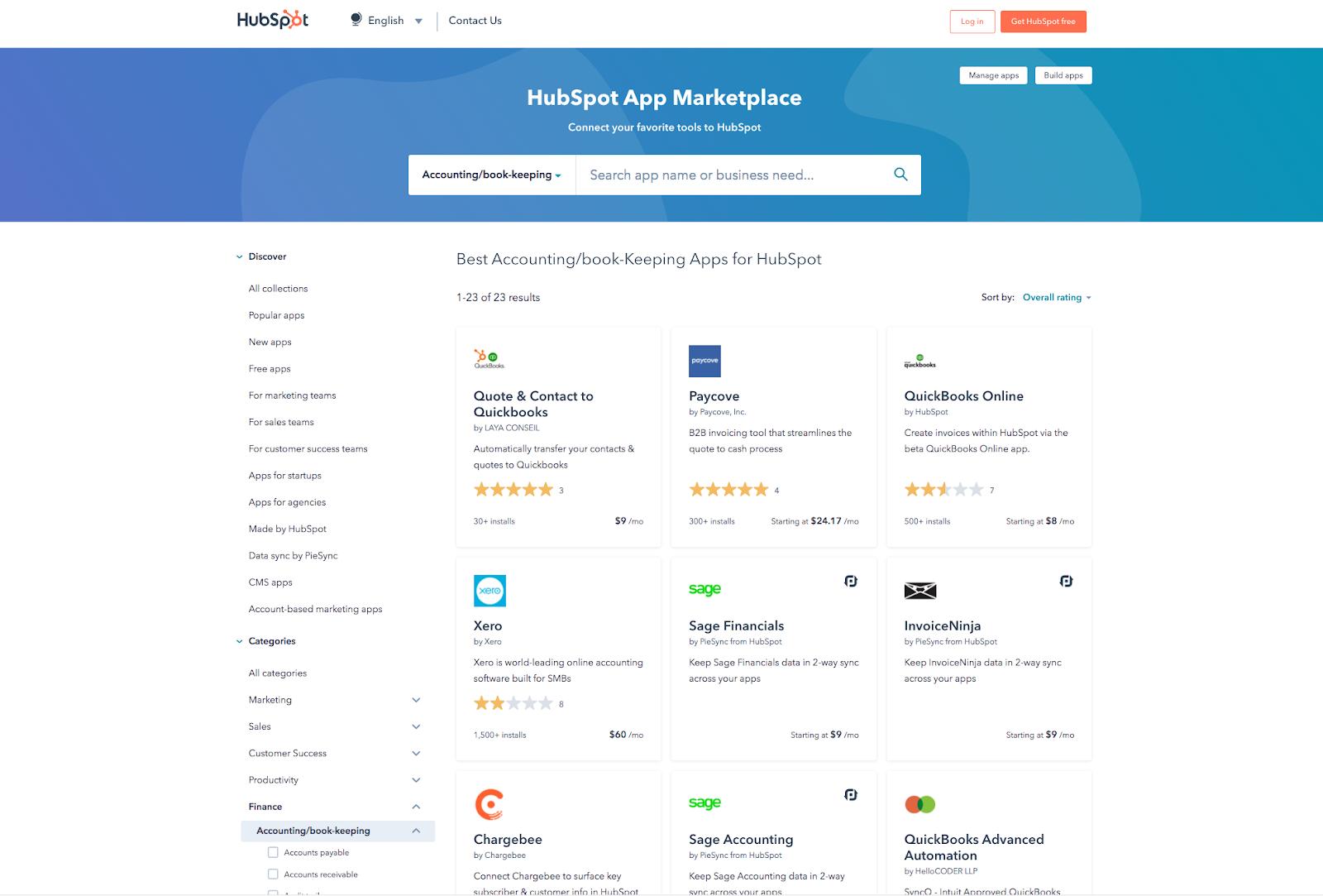 HubSpot Accounting Integrations
