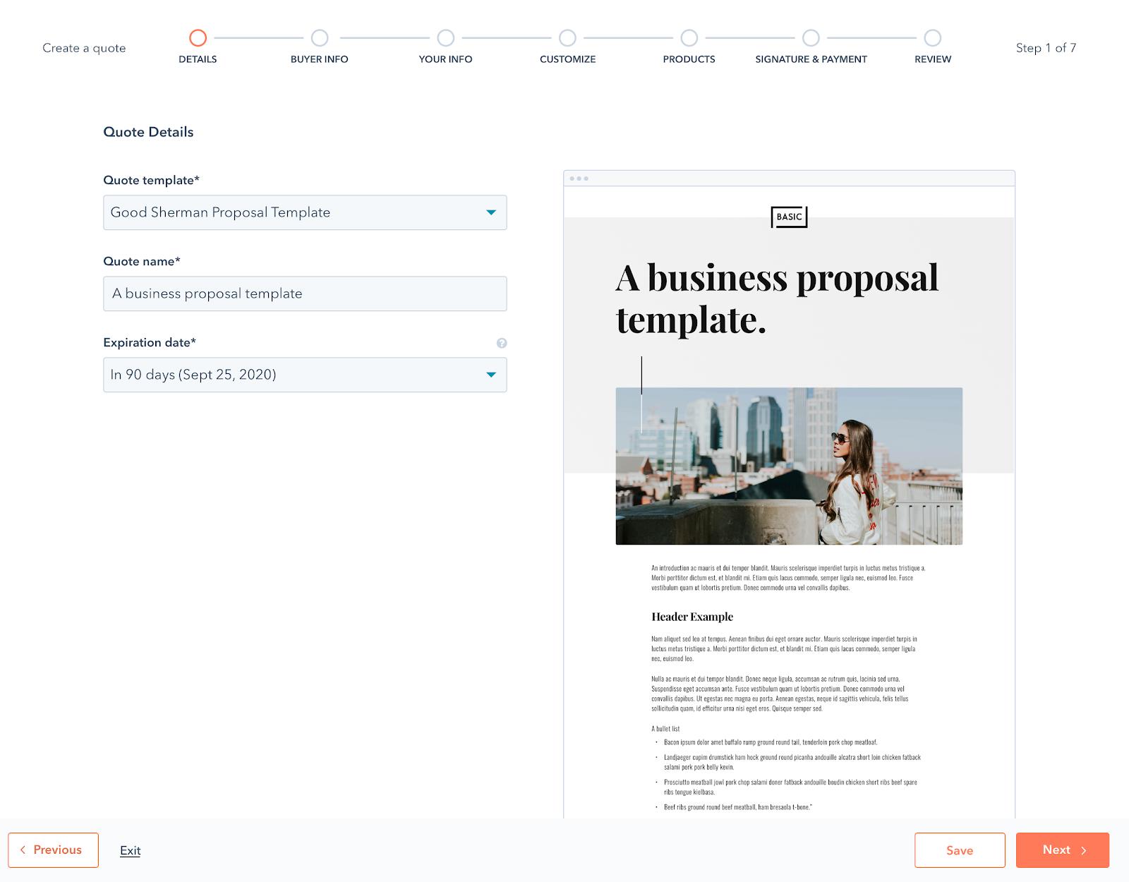 HubSpot CRM Proposals BETA